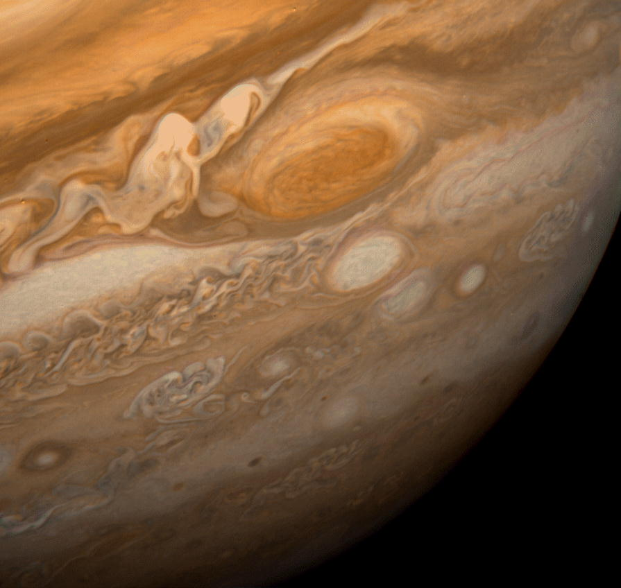Red Spot Jupiter Voyager 1