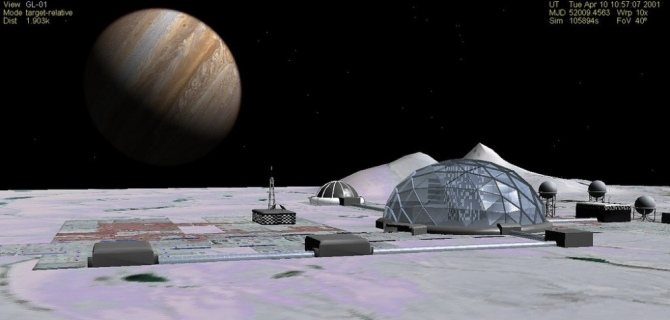 Galileo Base On Europa